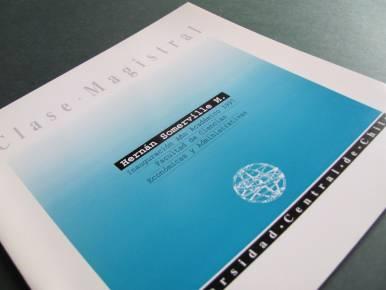 Documento que recoge Clase Magistral de Inauguración de Año Académico.